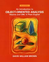 Cover image for An introduction to object-oriented analysis : objects and UML in plain English