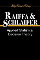 Cover image for Applied statistical decision theory