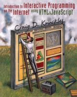 Cover image for Introduction to interactive programming on the internet : using HTML and JavaScript