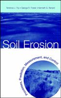 Cover image for Soil erosion : processes, prediction, measurement and control