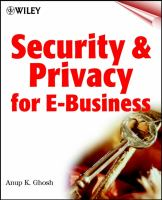 Cover image for Security and privacy for e-commerce