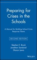 Cover image for Preparing for crises in the schools : a manual for building school crisis response teams