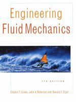Cover image for Engineering fluid mechanics
