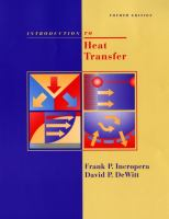 Cover image for Introduction to heat transfer / Frank P. Incropera