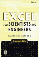 Cover image for Excel for scientists and engineers : numerical methods