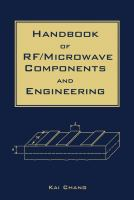Cover image for Handbook of RF/microwave components and engineering