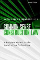 Cover image for Smith, Currie and Hancock LLP's common sense construction law : a practical guide for the construction professional