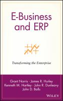Cover image for E-business and ERP : transforming the enterprise