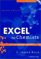 Cover image for Excel for chemists : a comprehensive guide