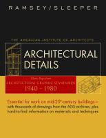 Cover image for Architectural details : classic pages from architectural graphic standards 1940-1980