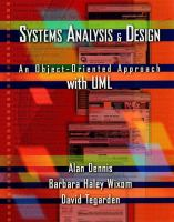 Cover image for Systems analysis and design : an object-oriented approach with UML
