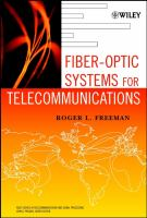 Cover image for Fiber-optic systems for telecommunications