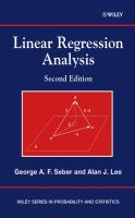 Cover image for Linear regression analysis