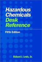 Cover image for Hazardous chemicals desk reference