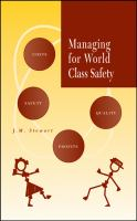 Cover image for Managing for world class safety