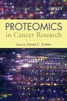 Cover image for Proteomics in cancer research