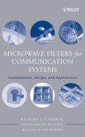 Cover image for Microwave filters for communication systems : fundamentals, design, and applications