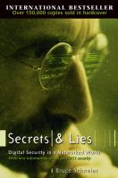 Cover image for Secrets and lies : digital security in a networked world