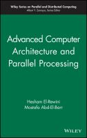 Cover image for Advanced computer architecture and parallel processing