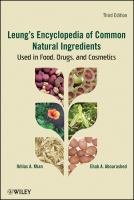 Cover image for Leung's encyclopedia of common natural ingredients : used in food, drugs and cosmetics
