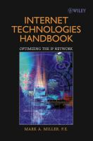 Cover image for Internet technology handbook : optimizing the IP network
