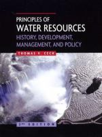 Cover image for Principles of water resources : history, development, management and policy
