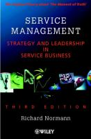 Cover image for Service management : strategy and leadership in service business