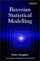 Cover image for Bayesian statistical modelling