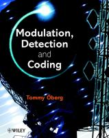 Cover image for Modulation, detection and coding