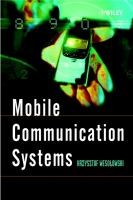 Cover image for Mobile communication systems