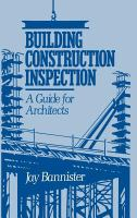 Cover image for Building construction inspection : a guide for architects