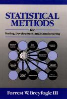 Cover image for Statistical methods for testing, development and manufacturing