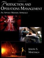 Cover image for Production and operations management : an applied modern approach