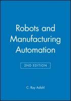 Cover image for Robots and manufacturing automation