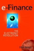 Cover image for e-Finance : the electronic revolution