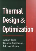 Cover image for Thermal design and optimization