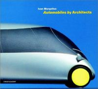 Cover image for Automobiles by architects