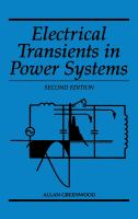 Cover image for Electrical transients in power systems