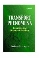 Cover image for Transport phenomena : equations and numerical solutions