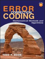 Cover image for Error correction coding : mathematical methods and algorithms