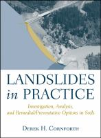 Cover image for Landslides in practice : investigation, analysis, and remedial/preventive options in soils