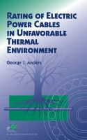 Cover image for Rating of electric power cables in unfavorable thermal environment