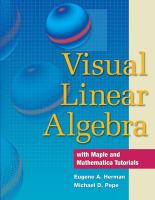 Cover image for Visual linear algebra with maple and mathematica tutorials