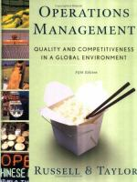 Cover image for Operations management : quality and competitiveness in a global environment