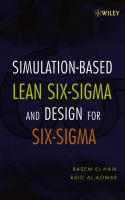 Cover image for Simulation-based design for lean six sigma : transactional process engineering