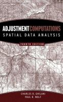 Cover image for Adjustment computations : spatial data analysis
