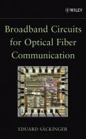 Cover image for Broadband circuits for optical fiber communication