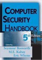 Cover image for Computer security handbook