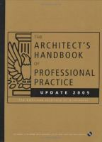Cover image for The architects handbook of professional practice