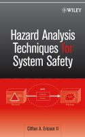 Cover image for Hazard analysis techniques for system safety